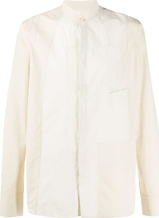 Ziggy Chen contrasting panel shirt - NEUTRALS
