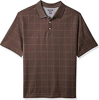 f8b04200d Van Heusen Mens Size Big and Tall Flex Short Sleeve Stretch Windowpane Polo  Shirt, Brown