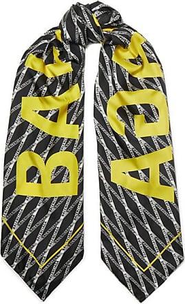 Balenciaga Printed Silk-twill Scarf - Black