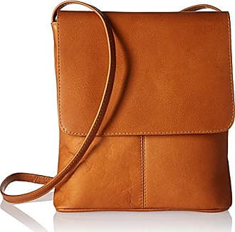 462b896aac4 Royce Leather Colombian Leather Flap Over Crossbody Bag Cross Body, Tan,  One Size