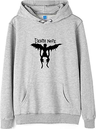 Haililais Death Note Pullover Pullover Sweatshirt Long Sleeve Sweater Outerwear Adult Casual Sports Fashion Wild Warm Men and Women Unisex (Color : Gray08, Size