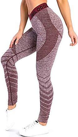 Damen Stretch Camouflage Leggings Sporthose Yoga Fitnesshose Tights Jogginghose