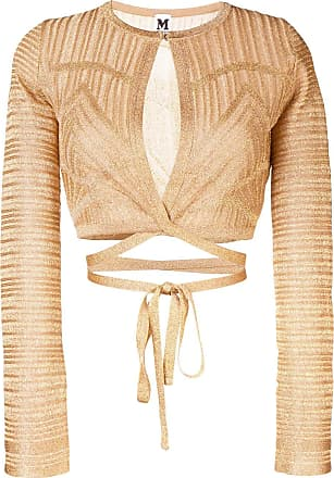 b1a0b6653d94 M Missoni patterned tie waist cardigan - Gold