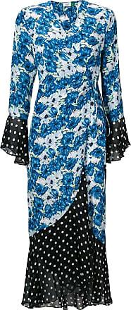 Rixo Vestido de seda Luna - Azul