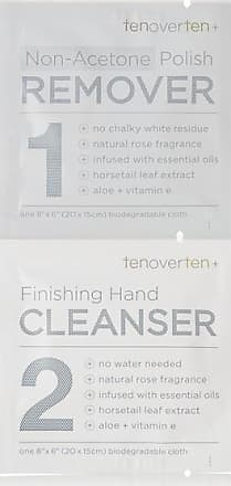 Tenoverten Non-acetone Polish Remover + Finishing Hand Cleanser Cloths - Colorless
