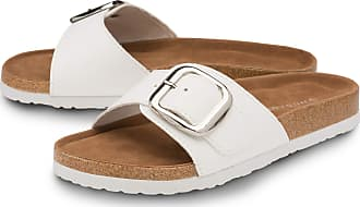Dunlop Ladies Single Buckle Sandals - White - UK 5