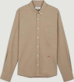 Ami Camel Cotton Friend Stickerei Shirt - cotton | camel | 37 - Camel