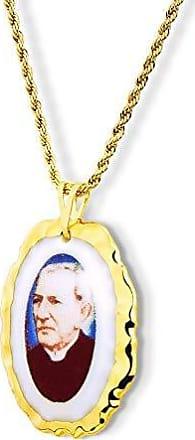 Design Medalhas Pingente Medalha Padre Cícero Ouro (Borda Relevo)