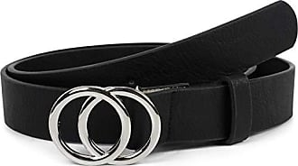 CASPAR GU225 Damen Gürtel breit Taillengürtel Hüftgürtel Gürtelschnalle Silber