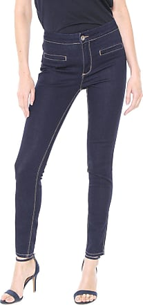 Enna Calça Jeans Enna Skinny Pespontos Azul-marinho