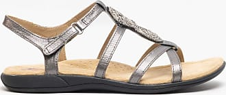 Earth Spirit Vancouver Ladies Leather Sandals Pewter UK 8