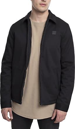 Urban Classics Mens Shirt Jacket, Schwarz (Black 7), Large