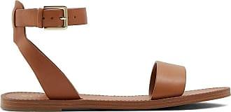 Aldo Womens Campodoro Flat Sandal Brown Size: 11