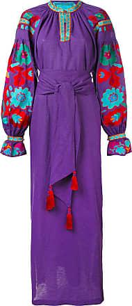 Yuliya Magdych Flower River dress - Purple