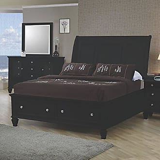 Coaster Fine Furniture Sandy Beach Eastern King Sleigh Bed with Footboard Storage Black