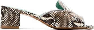 Blue Bird Shoes Mule com salto Python - Estampado