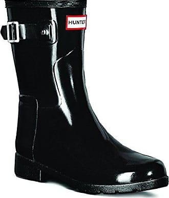 Hunter Damen Original Refined Short Gloss Regen Schnee Gummistiefel -  Schwarz - 43 555518b8bf