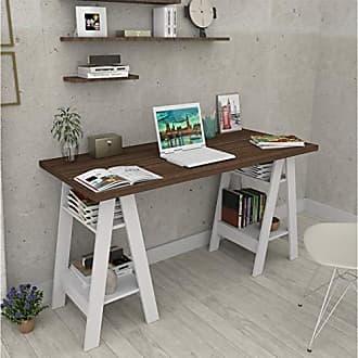 Appunto Escrivaninha Cavalete Self Appunto - Imbuia e Branco
