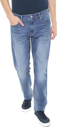 6fac0d6c866 Lacoste Calça Jeans Lacoste Reta Estonada Azul