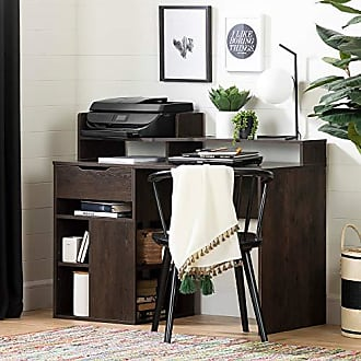 South Shore Furniture 12223 Holland Desk with Hutch and Storage, Brown Oak