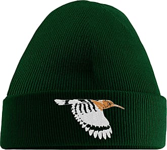 HippoWarehouse Exotic Bird Embroidered Beanie Hat Bottle Green