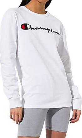 0f2fcdf601ae Champion Life Mens Heritage Long Sleeve Tee, White W/Embroidered Script X  Small