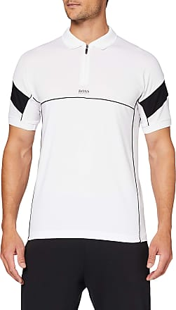 BOSS Mens Philix Polo Shirt, White (White 100), Large