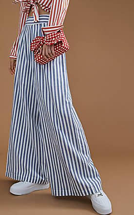 Icone Striped cotton-linen pant
