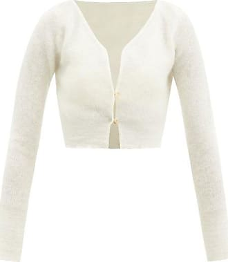 Jacquemus Alzou Cropped Mohair-blend Cardigan - Womens - Cream
