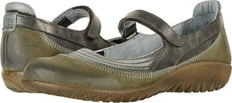 Naot Kirei (Oily Olive Suede/Vintage Smoke Leather/Black Pearl Leather) Womens Maryjane Shoes