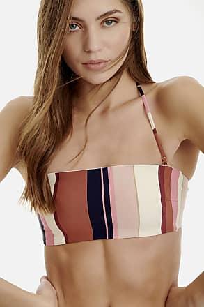 Sugarfree Striped strapless swimwear bikini top