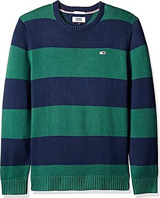 a53d5685ca9648 Tommy Hilfiger Tommy Jeans Mens Sweater Classics Collection, Hunter Green/Black  iris, XX