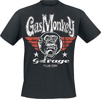 Gas Monkey Garage Original Tongue Round Seal T-Shirt (Schwarz) (XX-groß)