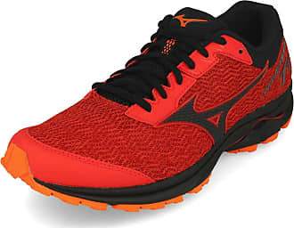 Mizuno Mens Wave Rider Tt Running Shoe, High Risk Red/Blk/Rorange, 12.5 UK