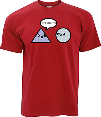 Tim And Ted Novelty Math T Shirt Youre Pointless Joke - (Red/X-Large)