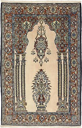 Nain Trading 165x110 Tappeto Fatto A Mano Qum Kork Beige/Marrone Scuro (Lana, Persia/Iran)