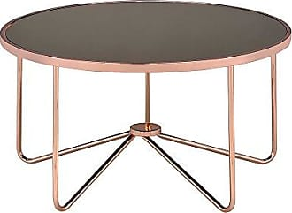 ACME 81840 Alivia Coffee Table, Smoky Glass & Rose Gold, One Size