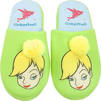 Disney Peter Pan Tinkerbell Fairy Partial 3D Womens Novelty Slippers Green