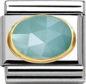 Maillon pour bracelet composable Mixte Acier inoxydable et Or jaune 18 cts 030115 Nomination