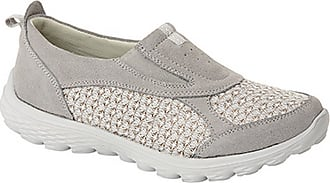 Boulevard Womens/Ladies Twin Gusset Casual Slip On Shoes (5 UK) (Grey)