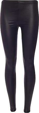Momo & Ayat Fashions Ladies Wetlook PVC Bodycon Tunic Dress Top Cardigan Leggings Cami Boobtube PU Leather Look UK Size 8-26 (2XL (UK 20-22), Wetlook Leggings)