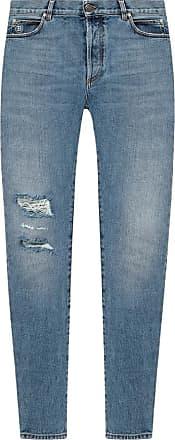 light blue Jeans with logo  Balmain  Straight leg jeans - Herreklær er billig