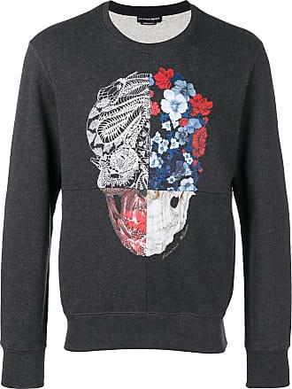Alexander McQueen skull print sweatshirt - Grey