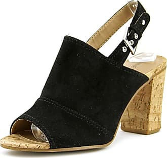 6fd708a7d23 Nine West Womens MILYONAROL Leather Open Toe Casual Ankle Strap