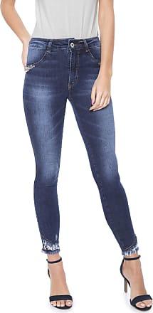 50d4eaa7c Biotipo Calça Jeans Biotipo Skinny Cropped Desfiada Azul