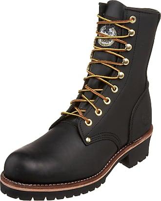 Georgia Boot Mens Logger 8 Black Non Steel-Toe Work Boot