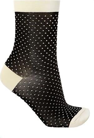 Undercover Patterned Socks Womens Black
