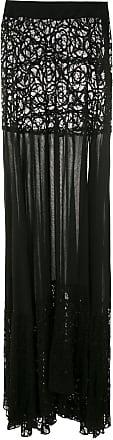 Amir Slama lace panels maxi skirt - Black
