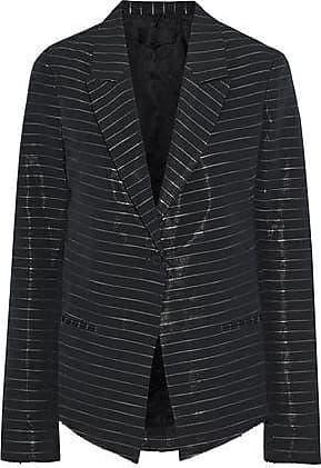 Rta Rta Woman Metallic Striped Cotton-blend Blazer Black Size XXS