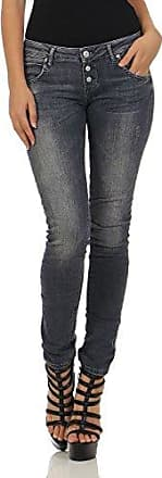 M.O.D Damen Jeans Ulla Slim NOS-2020 Hüft Hose Low Waist Slim Leg MOD Destroyed